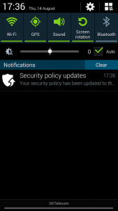 SECURITY POLICY UPDATES 1