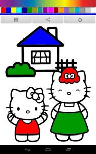 Hello Hello Kittys Coloring 1