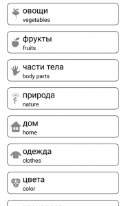 Learn and play. Russian words 1