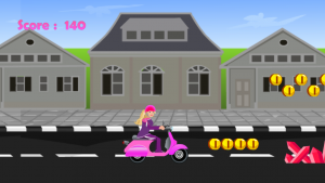 Miss Barbie Scooter Ride 1
