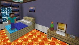 Floor is Lava. MCPE maps parkour 1