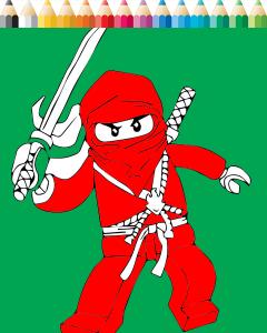 Lego Ninjago Coloring 1