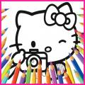 Hello Hello Kittys Coloring