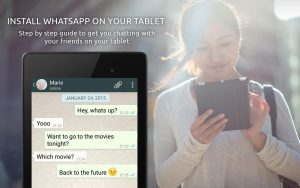 Install Guide WhatsApp Tablet 1