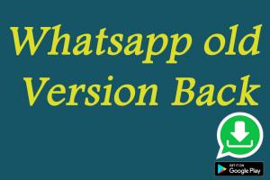 Down old version para WhatsApp 1