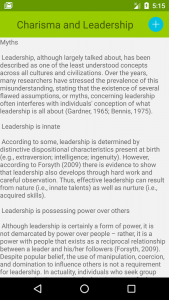 Charisma and Leadership 1