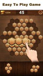 Wood Block Hexagon 1